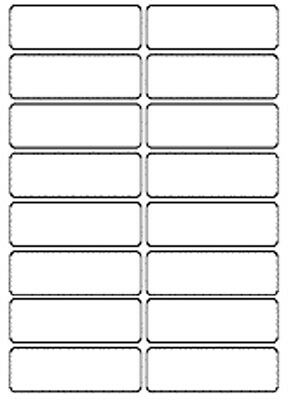 70x25mm White Self Adhesive Label Stickers Small Sticky Document Address Storage