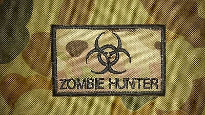 New Zombie Hunter Multicam Tactical Airsoft Morale Hook Patch Australia Seller