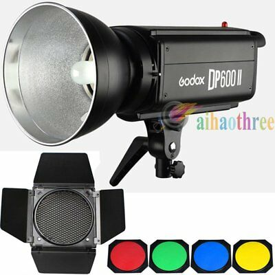 Godox DP600II 600W 2.4G Wireless Studio Flash Strobe Light + Barn Door With Grid