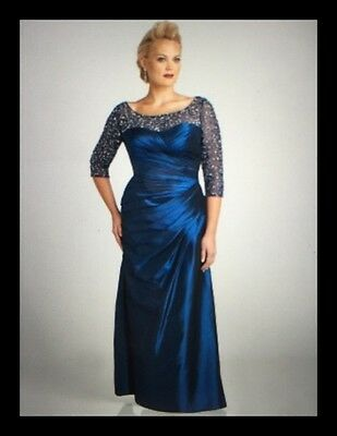 "New Women's Wedding ""Mother Of The Bride"" Formal Gown, Size 18W, Royal Blue"