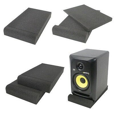 "Gorilla Studio Holds up to 6"" DJ Monitor Speaker Isolation Pad Acoustic Foam"