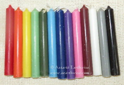 6 x PACK 10cm - SPELL WORK CANDLES - YOU CHOOSE COLOURS Wicca Pagan Witch Goth