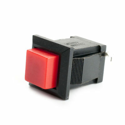 10pcs,Red Momentary OFF-ON Push Button 2PIN SPST Switch Square 14x14mm
