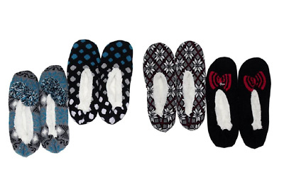 NEW! K. Bell Sherpa Slipper Socks 2 Pack VARIETY OF SIZES AND PATTENS!