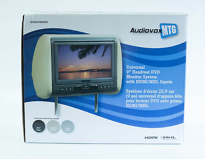 """Audiovox Headrest DVD Player with 7"""" Display, USB & SD Inputs & Remote Control"""