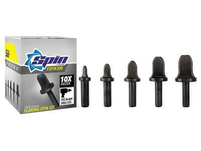 """FSPIN300 Flaring Tool Drill Bit Set With 1/4"""" 3/8"""" 1/2"""" 5/8"""" 3/4"""" Bits ShipsFree"""