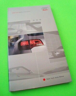 rare 2006 AUDI FULL LINE PRESS KIT w/ SPIRAL COLOR CATALOG + 3 PHOTO CD's In Box