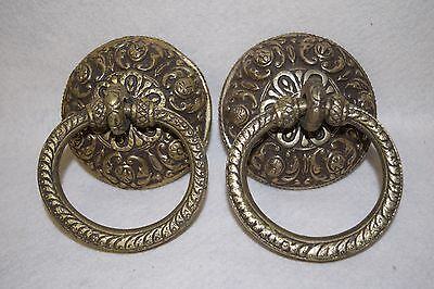 Vintage Pair of Antique Solid Brass Door Knockers