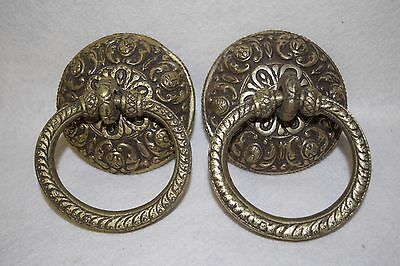 Vintage Style Pair of Brass Door Knockers