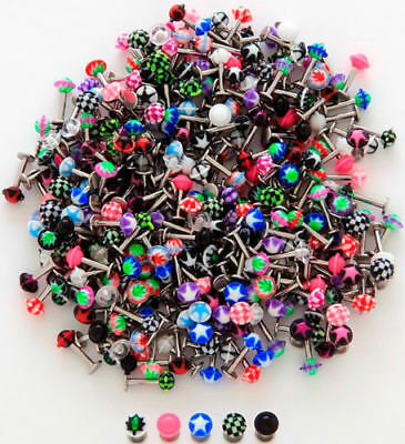 73pcs UFO Style 316L Steel Labrets Monroes 14g & 16g Wholesale Lot Body Jewelry