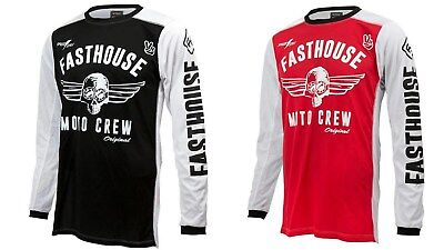 New Fasthouse Black Or Red Original Air Cooled MX/Offroad Jersey Adult Sizes