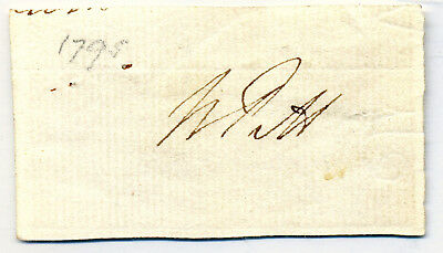 William Pitt The Younger Autograph 1795 Great English Statesman & Prime Minister
