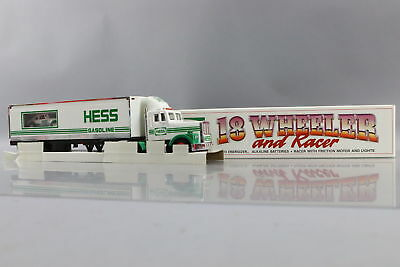 Hess 1992 18 Wheeler and Racer Collectible Toy Truck New in Open Box (NIOB)