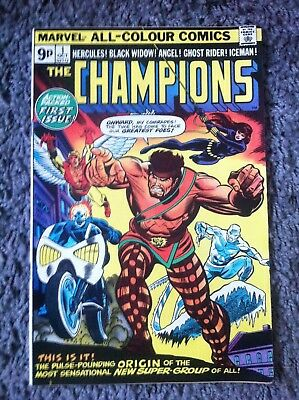 The Champions #1 1975 Marvel Bronze Age Comic VF/VF+