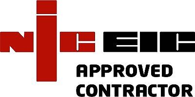 NIC EIC Approved Contractor Electrical Vinyl Decal Van Sticker X1 No Background!