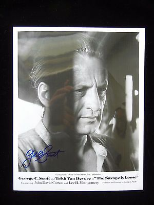 George C. Scott Autograph - Hand Signed 8x10 Photo - Guaranteed Authentic