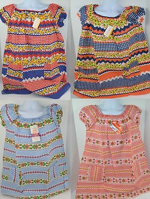 Vtg 1970's Coronet Mills DUSTER DAY DRESS Floral Colorful 4 Styles S M L - NOS