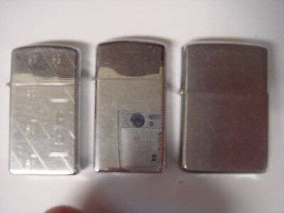 Lot Of 3 Zippo Lighters Vintage