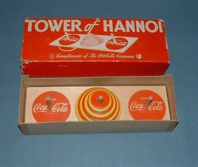 Vhtf Coca Cola Tower Of Hannoi Game - 1940's - Milton Bradley - Exc. Condition