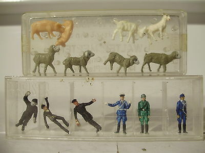 Preiser Factory Pre painted figures & animals. HO. Boxed. New old stock.