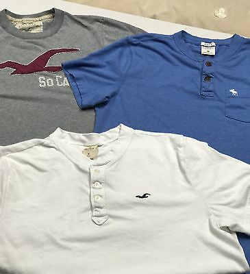 Lot Of 3 Men's Medium Hollister And Abercrombie T-shirts