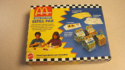 McDonalds  Refill Pak Pack Hamburger Snack Maker & Happy Meal Magic Snack Maker