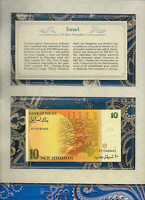 *Most Treasured Banknotes Israel 10 New Sheqalim 1987 GEM UNC P53b