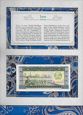 *Most Treasured Banknotes Laos 100 Kip 1979 GEM UNC P30 Prefix MQ
