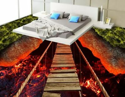 3D Rock-Magma Bridge 568 Floor WallPaper Murals Wall Print Decal 5D AJ WALLPAPER