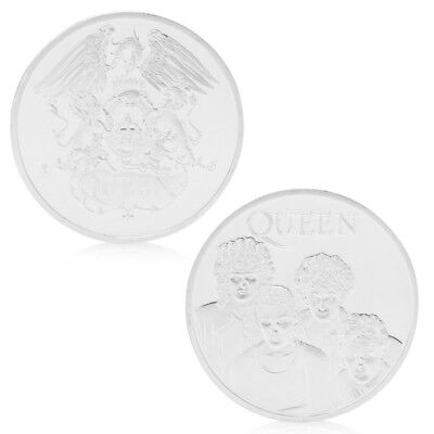 Queen British Rock Band Silver Plated Commemorative Coin Token Collectible Gifts