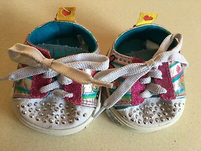 Skechers For Build A Bear Shoes Bling Pink Silver Rhinestones