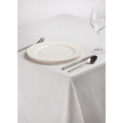 Square Polycotton Tablecloth White 54in BARGAIN