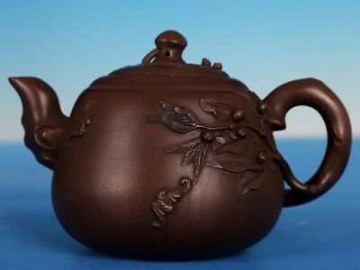 Exquisite China Yixing Zisha Teapot Hand Carved Purple Sand Teapots Marks PT261