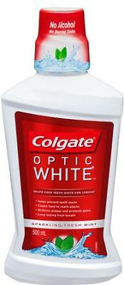 Colgate Mouth Wash Optic White 500ML NEW Cincotta Chemist