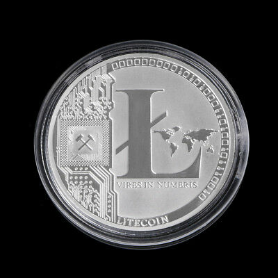 Silver Plated 25 Litecoin Coins Vires in Numeris Collection Commemorative Coin