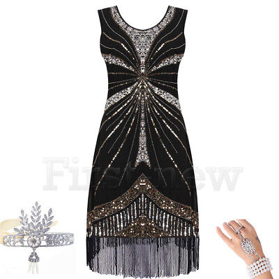 1920s Flapper Dress Great Gatsby Dresses Sequin Fringe Party Gown Prom Plus Size