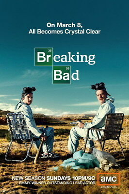 "069 Breaking Bad - White Final Season 2013 Hot TV Show 24""x36"" Poster"