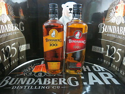Bundaberg Rum 100 Proof Red & Yellow 50% Alc/vol Both 700Ml, Deleted Line Now