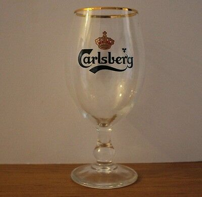 COLLECTABLE Carlsberg Stemmed Beer Glass Great For Bar or Man Cave