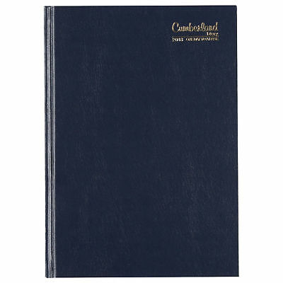 2018 Diary Cumberland Casebound A5 Day per Page Blue (51ECBL) Free Post