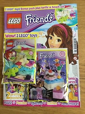 Lego friends magazine Issue 37 4 different covers cake lego set
