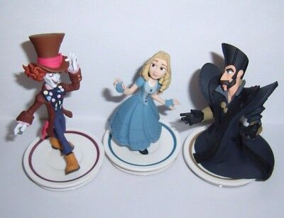 DISNEY INFINITY 3.0 Alice in Wonderland Mad Hatter Time Figure Character Lot New
