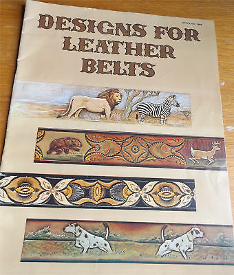 Vintage Tandy Designs for Leather Belts book - How To Make Leather Belts #1948