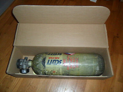 Used Scott 4500psi 45 min Carbon SCBA Air Pack Bottle Cylinder Breathing Tank