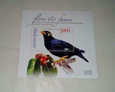 Indonesia mint MS stamps on stamp bird theme 2012