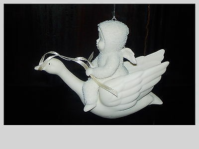 Dept 56 Snowbabies Christmas Ornament Baby Riding A Swan