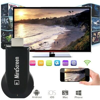 MiraScreen WIFI 1080P HD Display Receiver TV Dongle Miracast DLNA Airplay HDMI
