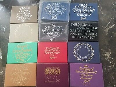 Coinage of Great Britain and Northern Ireland 1970-1982Proof Sets (Lot of 13)FS