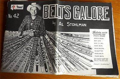 Belts Galore by Al Stohlman  How to Make and Tool Patterns  Leather Belts
