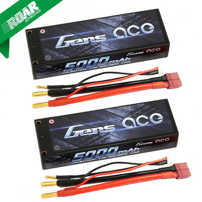 Gens Ace 2S 5000mAh 7.4V 50C 2S1P HardCase Lipo Battery with Deans Plug (2)